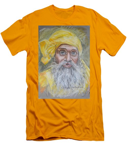 Nepal Man 6 Men's T-Shirt (Slim Fit) by Marty Garland