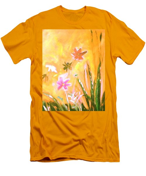 New Daisies Men's T-Shirt (Slim Fit) by Winsome Gunning