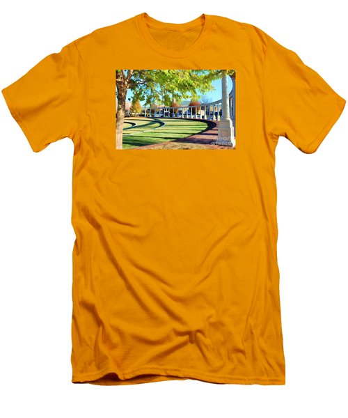 Men's T-Shirt (Slim Fit) featuring the photograph Newnan Park Ampitheatre by Roberta Byram