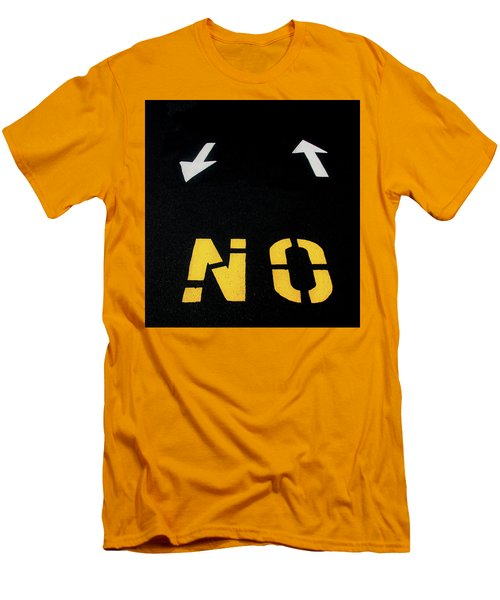 Men's T-Shirt (Athletic Fit) featuring the photograph No Sense Of Direction Traffic Lines by Gary Slawsky