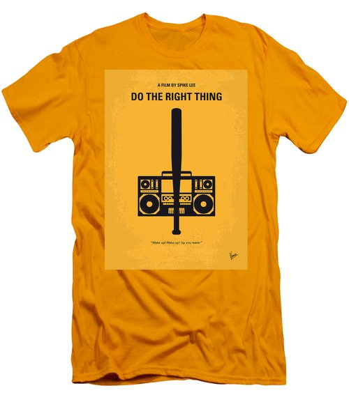 No179 My Do The Right Thing Minimal Movie Poster Men's T-Shirt (Athletic Fit)