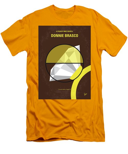 Men's T-Shirt (Slim Fit) featuring the digital art No766 My Donnie Brasco Minimal Movie Poster by Chungkong Art