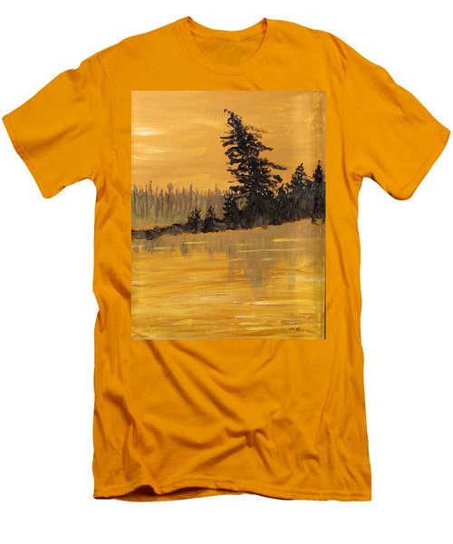 Men's T-Shirt (Slim Fit) featuring the painting Northern Ontario Three by Ian  MacDonald
