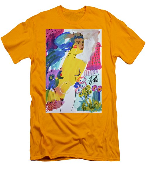 Nude In A Garden Men's T-Shirt (Athletic Fit)