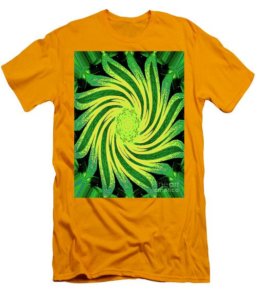 Men's T-Shirt (Athletic Fit) featuring the digital art Octagonal Painting Put Into Motion by Merton Allen