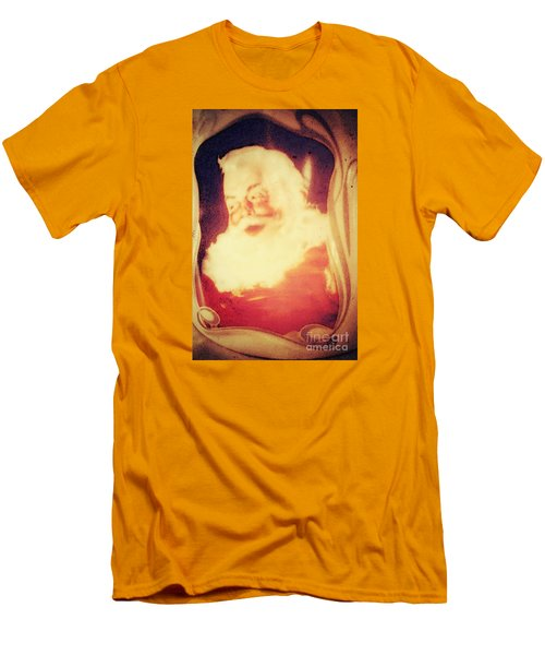 Old Fashioned Santa Men's T-Shirt (Slim Fit) by Janie Johnson