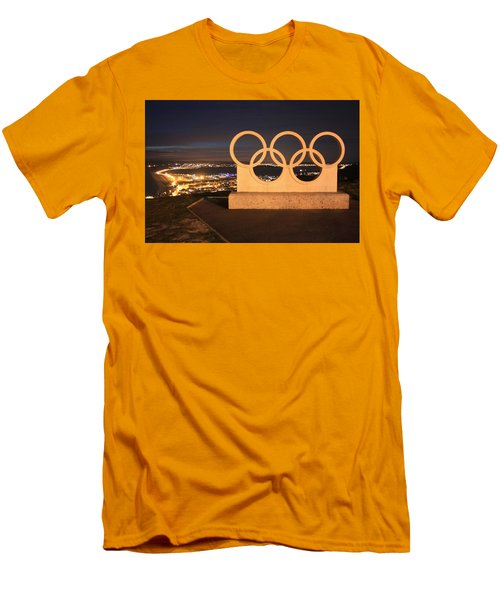 Olympic Rings Portland  Men's T-Shirt (Athletic Fit)