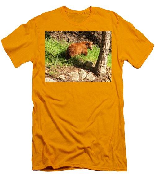 Men's T-Shirt (Slim Fit) featuring the photograph On Monrovia Trail by Viktor Savchenko