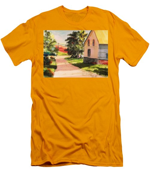 On The Line Men's T-Shirt (Slim Fit) by John Williams