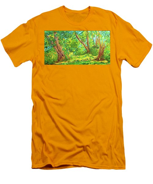 Men's T-Shirt (Slim Fit) featuring the painting On The Path by Susan D Moody