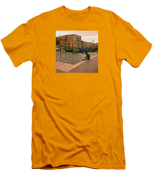 Men's T-Shirt (Athletic Fit) featuring the photograph On The Waterfront by Anne Kotan