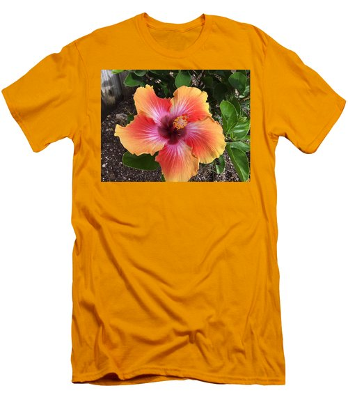 Orange And Red Beauty Men's T-Shirt (Athletic Fit)
