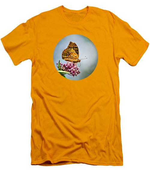 Men's T-Shirt (Athletic Fit) featuring the photograph Orange Butterfly by Christina Rollo