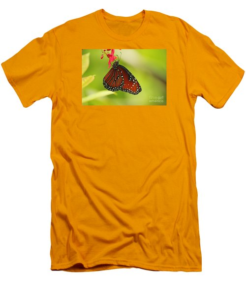 Orange Butterfly Men's T-Shirt (Athletic Fit)