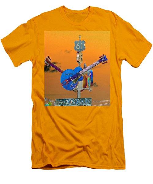 Orange Crossroads Men's T-Shirt (Athletic Fit)