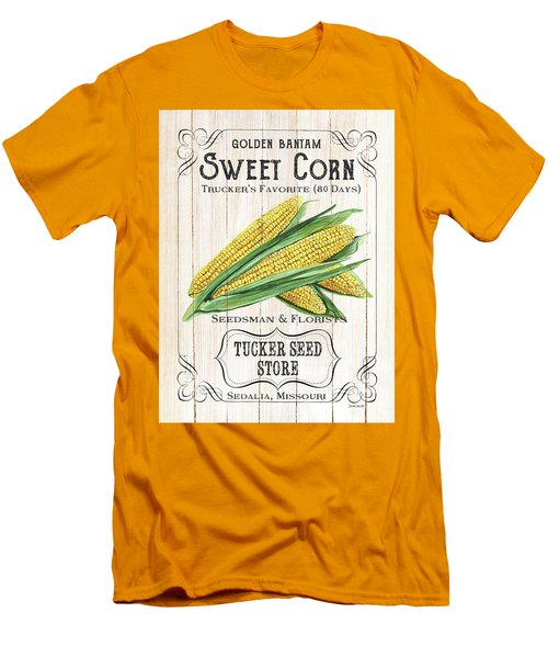 Men's T-Shirt (Slim Fit) featuring the painting Organic Seed Packet 4 by Debbie DeWitt