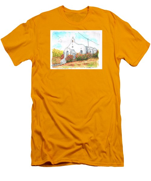 Our Lady Of Mount Carmel Catholic Church, Carmel,california Men's T-Shirt (Slim Fit) by Carlos G Groppa