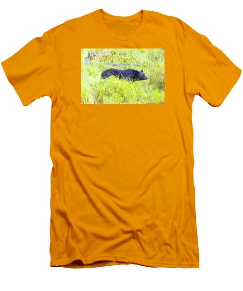 Out Standing In His Field Men's T-Shirt (Slim Fit) by Harold Piskiel