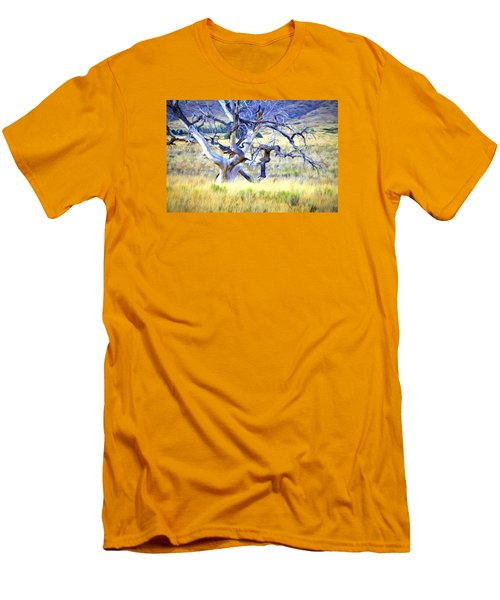 Out Standing In My Field Men's T-Shirt (Slim Fit) by James Steele