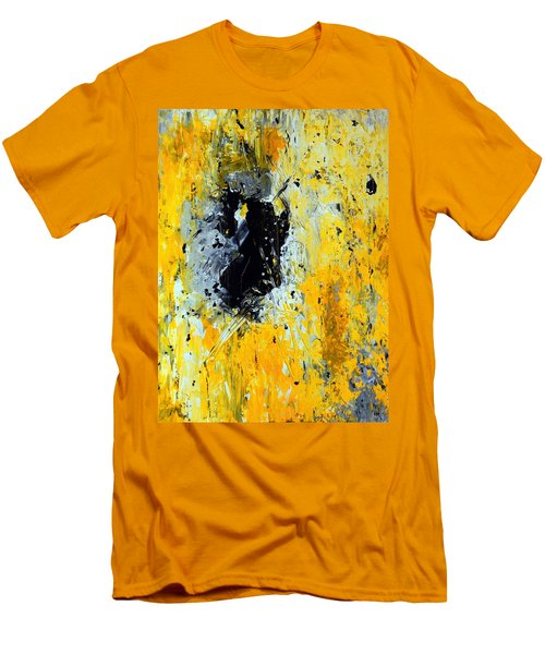 Men's T-Shirt (Slim Fit) featuring the painting Outside Looking In by Everette McMahan jr