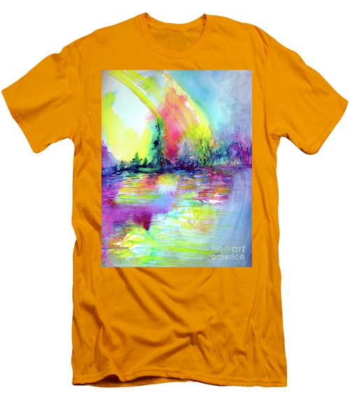 Over The Rainbow Men's T-Shirt (Athletic Fit)