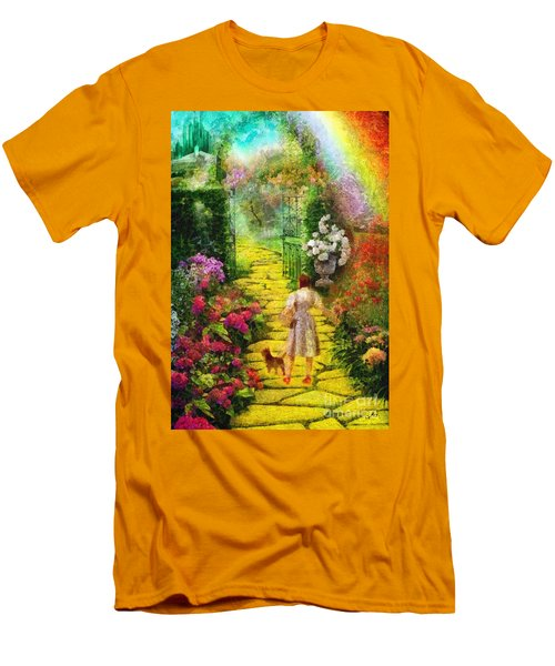 Over The Rainbow Men's T-Shirt (Slim Fit) by Mo T