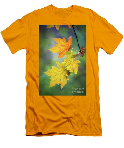 Painted Autumn Leaves Men's T-Shirt (Athletic Fit)