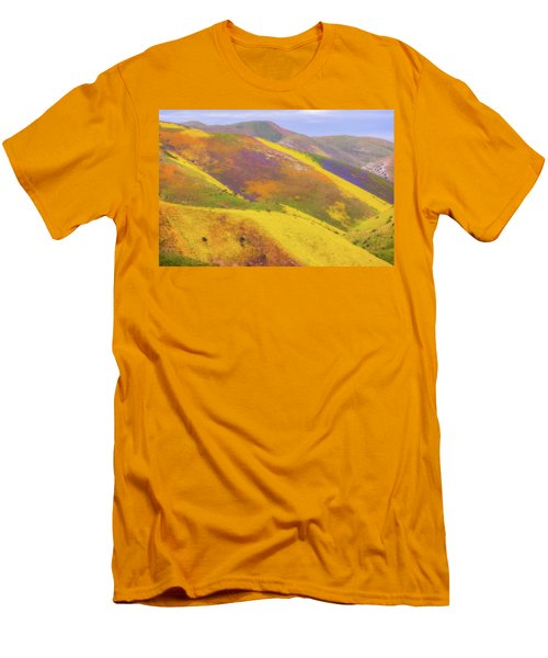 Men's T-Shirt (Slim Fit) featuring the photograph Painted Hills by Marc Crumpler