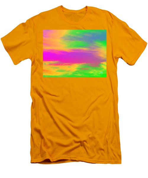 Painted Sky - Abstract Men's T-Shirt (Slim Fit) by Linda Hollis