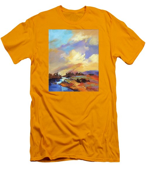 Men's T-Shirt (Slim Fit) featuring the painting Painted Sky by Rae Andrews
