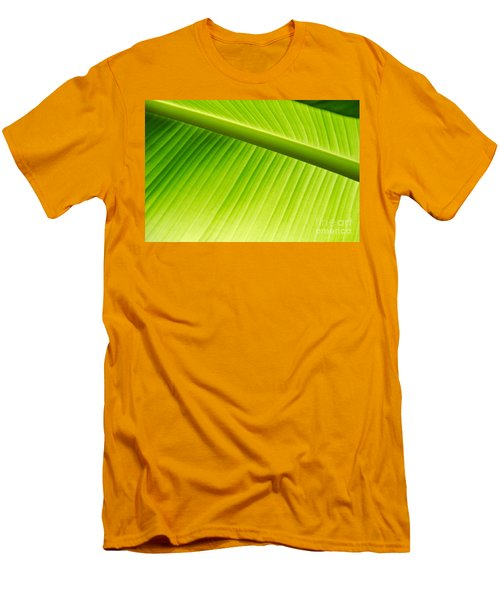Men's T-Shirt (Slim Fit) featuring the painting Palm Leaf Background by Yurix Sardinelly
