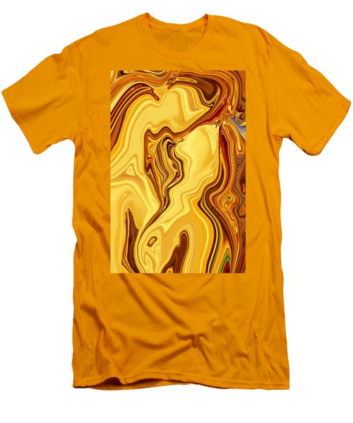 Men's T-Shirt (Slim Fit) featuring the digital art Passion by Rabi Khan