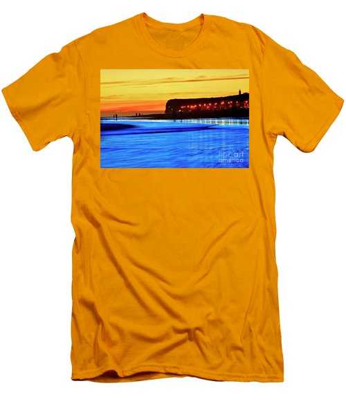 Patagonia Beach. Men's T-Shirt (Slim Fit) by Bernardo Galmarini