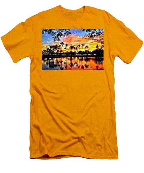 Men's T-Shirt (Slim Fit) featuring the digital art Path To The Sea by DJ Florek