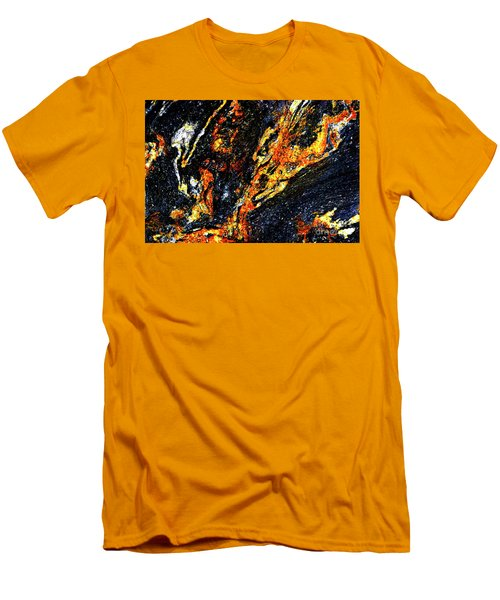 Men's T-Shirt (Slim Fit) featuring the photograph Patterns In Stone - 187 by Paul W Faust - Impressions of Light