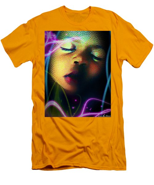 Men's T-Shirt (Slim Fit) featuring the photograph Peaceful by Iowan Stone-Flowers