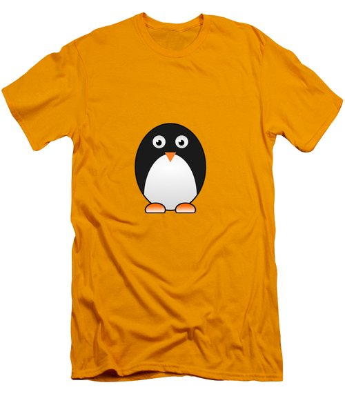 Penguin - Birds - Art For Kids Men's T-Shirt (Slim Fit) by Anastasiya Malakhova