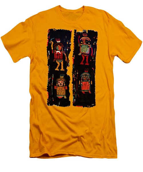 Men's T-Shirt (Slim Fit) featuring the digital art Peruvian Fab Art by Asok Mukhopadhyay