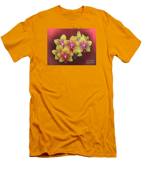 Phalaenopsis Orchid Flower Men's T-Shirt (Slim Fit) by Suzanne Handel