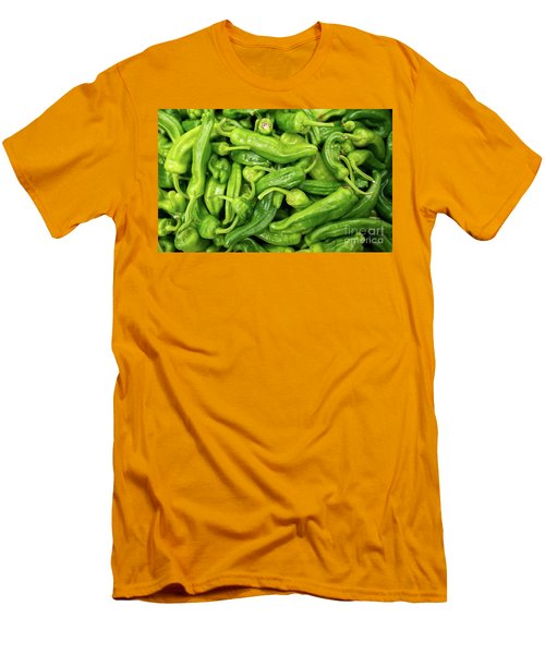 Men's T-Shirt (Slim Fit) featuring the photograph Picked A Peck Of Peppers by Sandy Molinaro