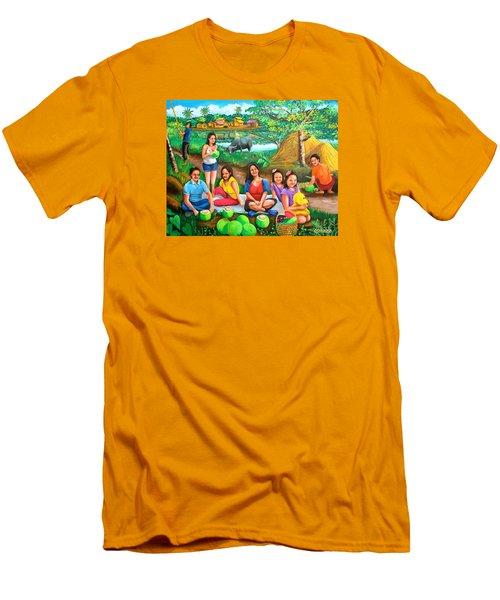 Picnic At The Farm Men's T-Shirt (Athletic Fit)