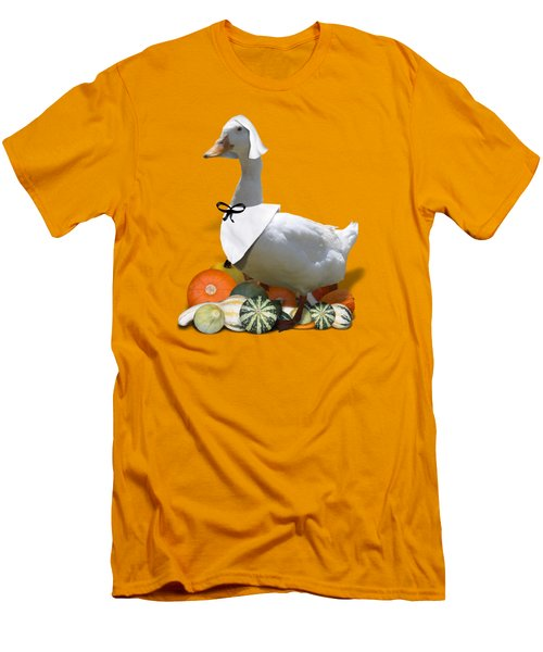 Pilgrim Duck Men's T-Shirt (Slim Fit) by Gravityx9 Designs