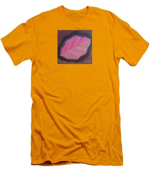 Pink Leaf Men's T-Shirt (Athletic Fit)