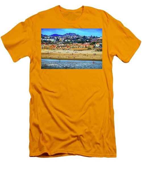 Men's T-Shirt (Slim Fit) featuring the photograph Pismo Hilltop Ocean View by Joseph Hollingsworth