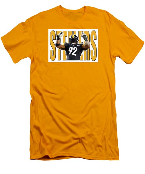Pittsburgh Steelers Men's T-Shirt (Slim Fit) by Stephen Younts