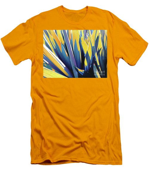 Plant Burst - Yellow Men's T-Shirt (Slim Fit) by Rebecca Harman