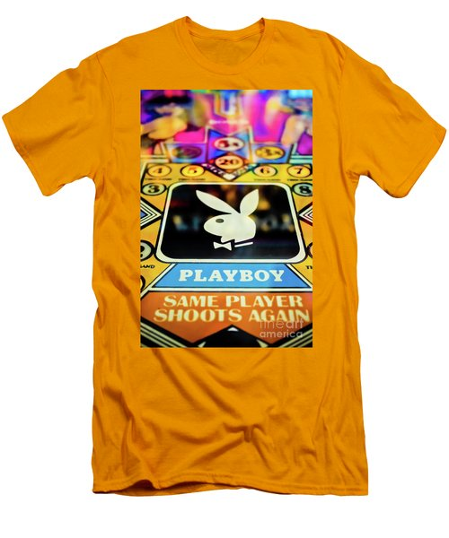 Men's T-Shirt (Slim Fit) featuring the photograph Playboy Pinball by Colleen Kammerer