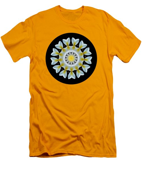 Plumeria Mandala By Kaye Menner Men's T-Shirt (Slim Fit) by Kaye Menner