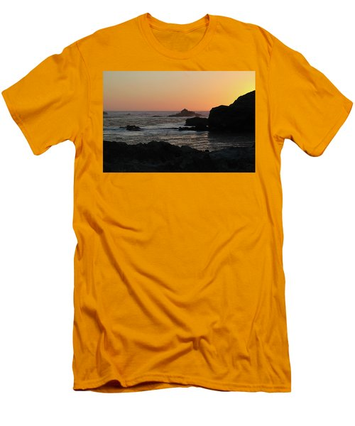Men's T-Shirt (Slim Fit) featuring the photograph Point Lobos Sunset by David Chandler