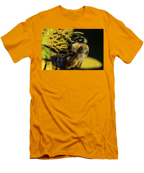 Men's T-Shirt (Slim Fit) featuring the photograph Pollen Collector  by Jay Stockhaus
